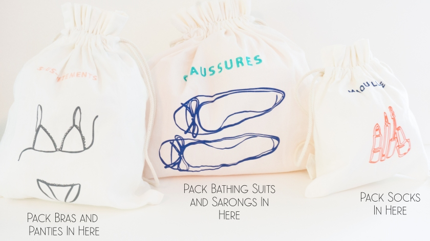 Tip: Get some travel bags and use these to help compartmentalize your smaller items!