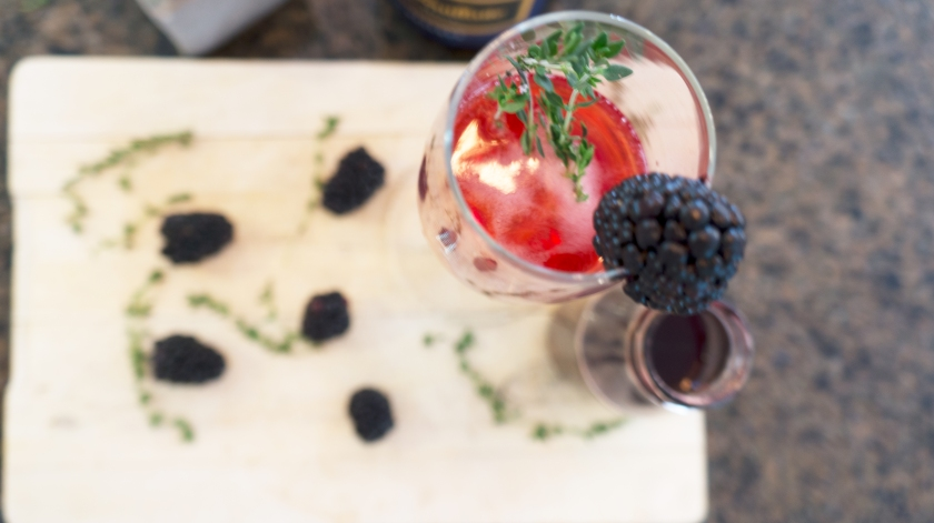 To Be Simply Happy: Blackberry Champagne Delight