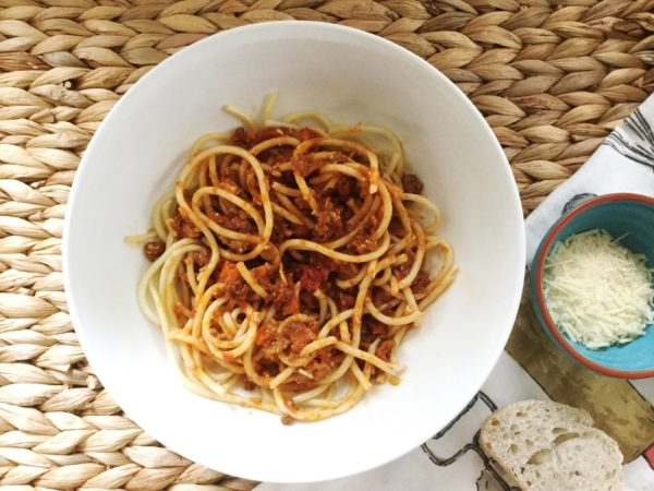 With pasta