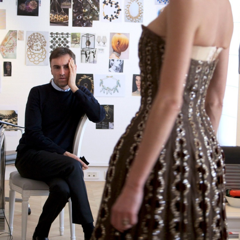 Raf Simons, fashion designer, in deep contemplation during the line creation he is collaborating while in the Dior House in Paris.
