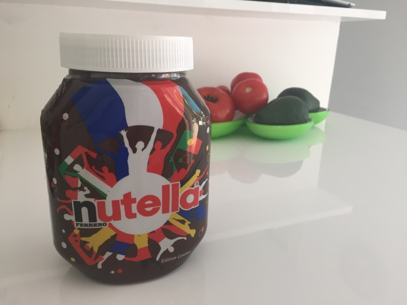 As if I needed another reason to love Nutella! They now are offering jars with the French EuroCup support branding. This is a keeper long after the chocolate is gone :)