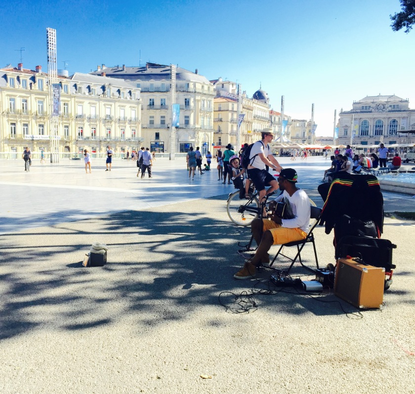 When strolling the streets of Montpellier, don't be surprised to hear wonderful musicians filling the air. Some are looking for tips to help fund their passion, and others are just using the opportunity to practice. Regardless, I was never disappointed in the quality of their musical talents.