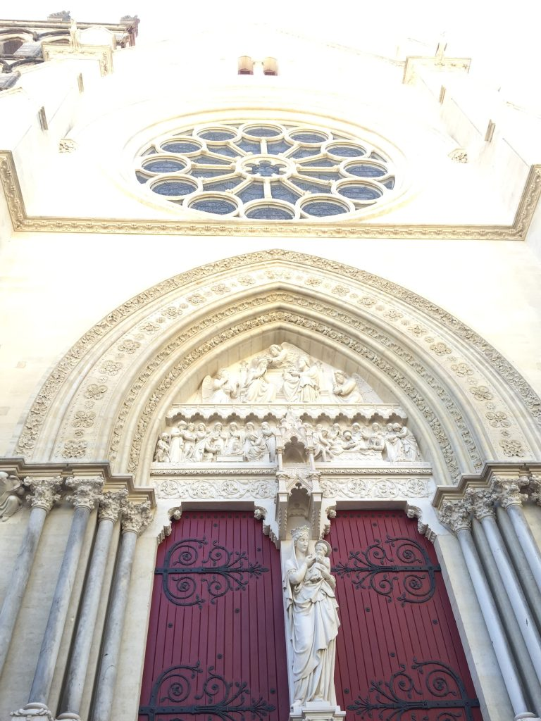 Another view of the front doors of the cathedral.