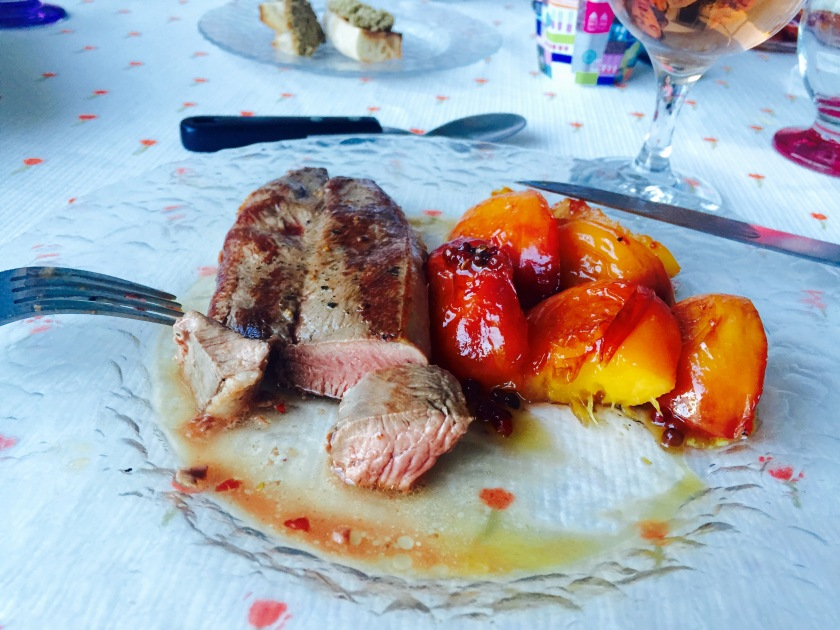 To Be Simply Happy: Duck and Peach Recipe