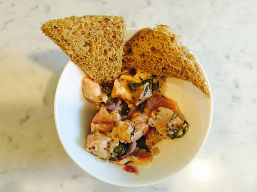 Salmon Sashimi Tatar - Dish 3