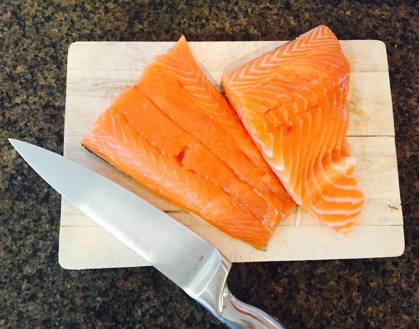 Salmon Sashimi Tatar Ingredients-Fresh Salmon