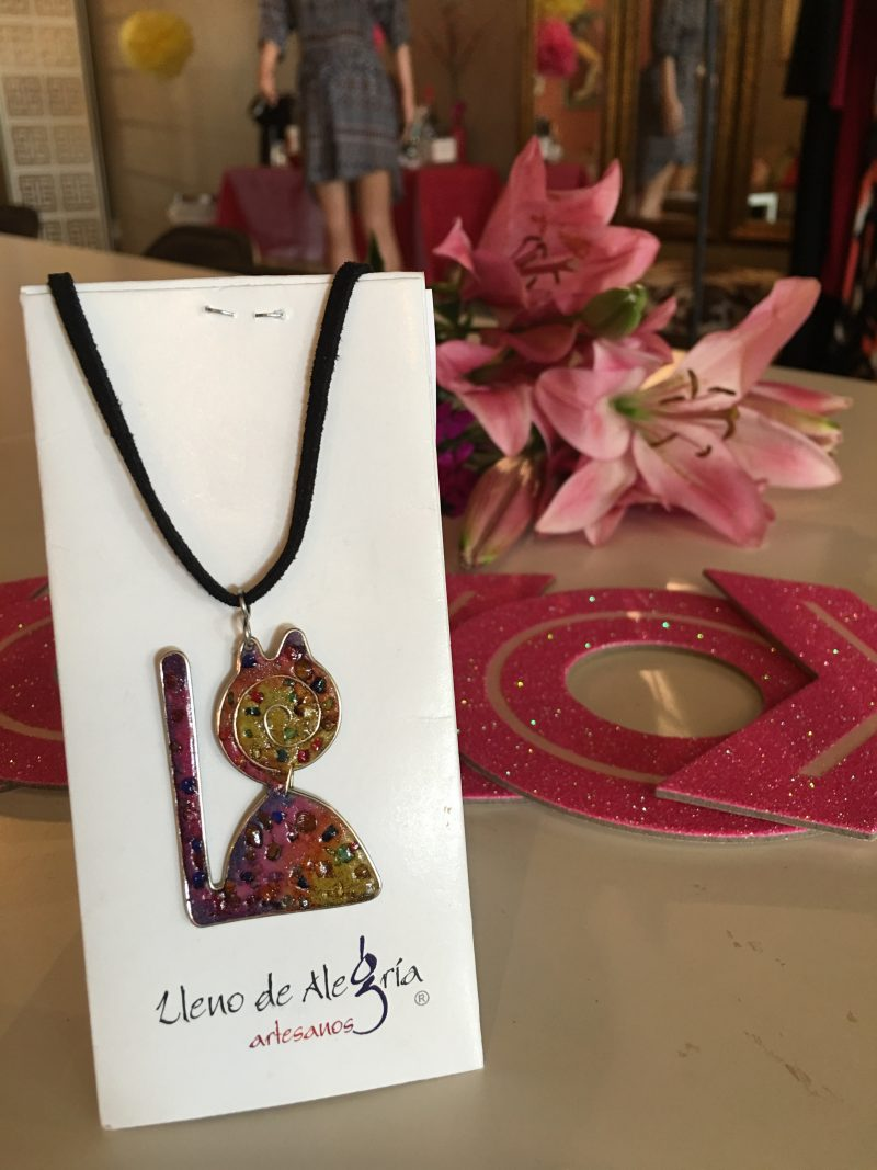 Colombian Melded Metal Cat Necklace form The Thinking Girls Boutique $25